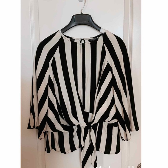 Topshop US size 8 stripped blouse